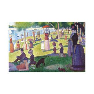 Colorful Iconic Georges Seurat La Grande Jatte Canvas Print