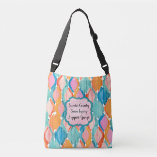 Colorful Ikat Rhombus Pattern Crossbody Bag