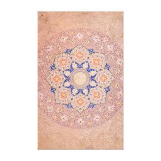 Colorful Illuminated Shamsa India Canvas Print