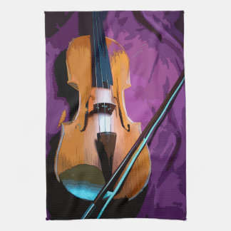 Colorful illustrated kitchen towel - Viola