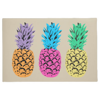 Colorful illustrated Pineapples Doormat