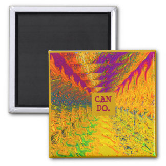 Colorful Images fridge magnet with message