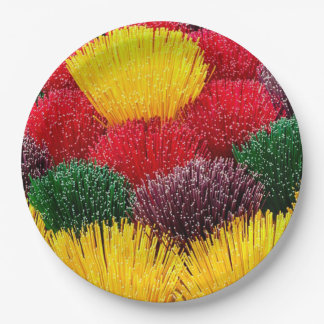 Colorful Incense DOD Party Paper Plates