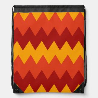 Colorful Indian Rug Pattern Drawstring Bag