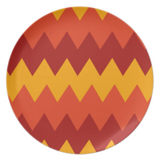 Colorful Indian Rug Pattern Plate