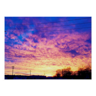 Colorful Indiana Sunset Poster
