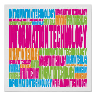 Colorful Information Technology Poster