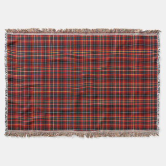 Colorful Innes Clan Scottish Plaid Throw Blanket