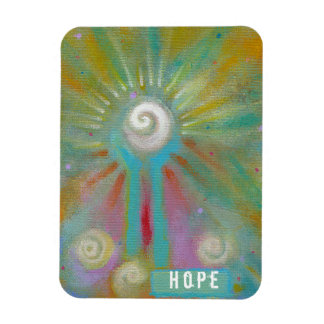 Colorful inspirational whimsical original painting rectangle magnets