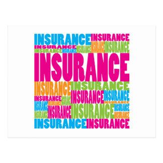 Colorful Insurance Postcard