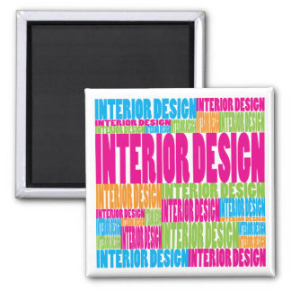 Colorful Interior Design Square Magnet