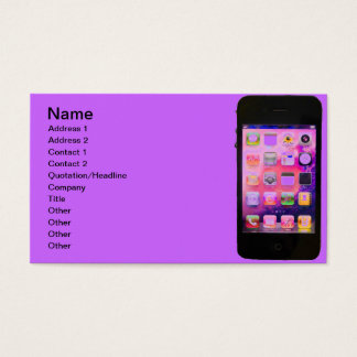 Colorful iPhone Business Card