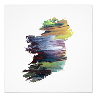 Colorful ireland silhouette photo print