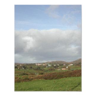 Colorful Irish Village Scene. Invitations