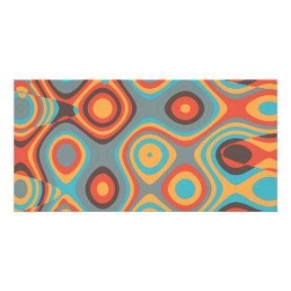 Colorful irregular shapes photo cards