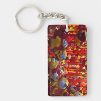 Colorful items for sale in a shop in Hong Kong Double-Sided Rectangular Acrylic Key Ring