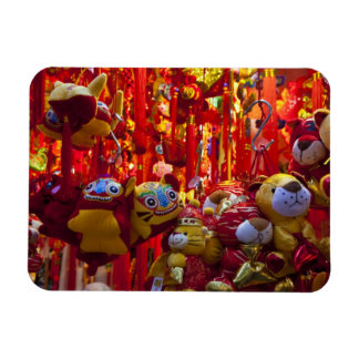 Colorful items for sale in a shop in Hong Kong Rectangular Photo Magnet