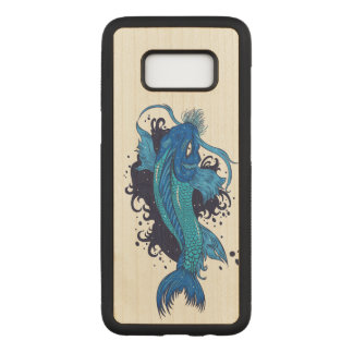Colorful Japanese Koi Carved Samsung Galaxy S8 Case