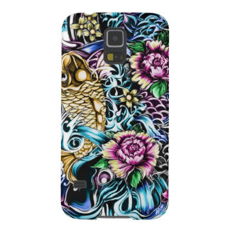 Colorful Japanese Koi tattoo art Case For Galaxy S5
