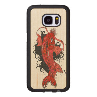 Colorful Japanese Koi Wood Samsung Galaxy S7 Case