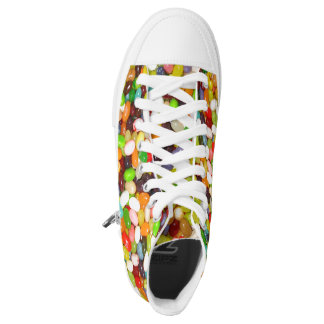 Colorful jelly Bean Hi Top shoes! Great fun! Printed Shoes