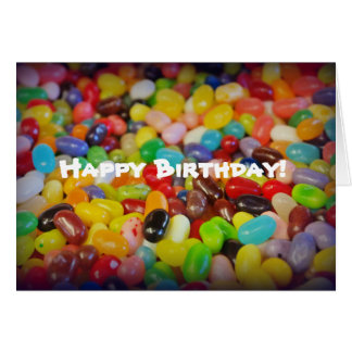Colorful Jelly Beans Birthday Card
