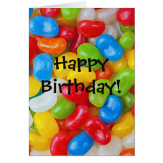 Colorful Jelly Beans Card