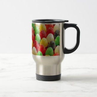 Colorful jelly candy print stainless steel travel mug