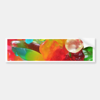 colorful jelly gum texture bumper sticker
