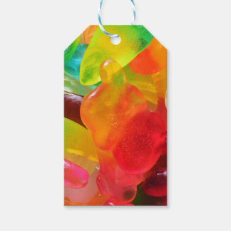 colorful jelly gum texture gift tags