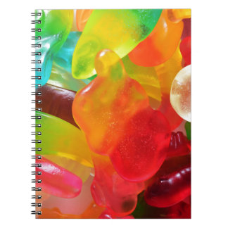 colorful jelly gum texture notebook