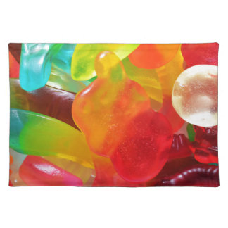 colorful jelly gum texture placemat
