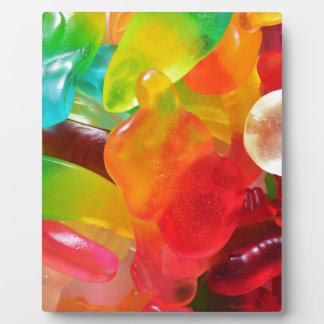 colorful jelly gum texture plaque
