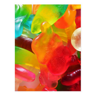 colorful jelly gum texture postcard
