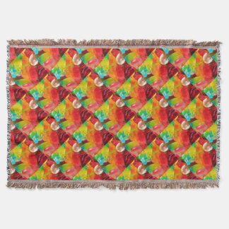 colorful jelly gum texture throw blanket