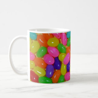 Colorful jellybean candy coffee mug