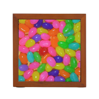 Colorful jellybean candy pencil holder