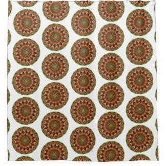 Colorful Jellybean Round Mandala (Lg Print) Shower Curtain