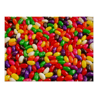 Colorful jellybeans candy print poster