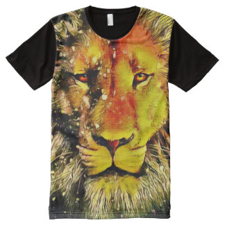 Colorful Jesus Lion Watercolor Pencil Art All-Over Print T-Shirt