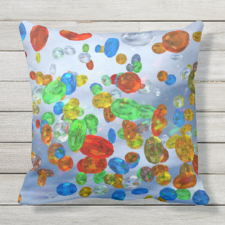 Colorful Jewels Design Throw Pillow