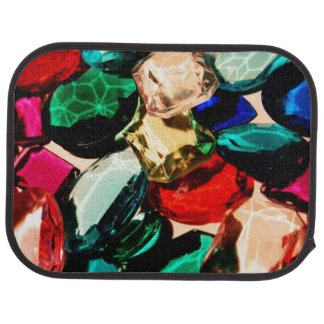 Colorful Jewels Gems Crystals Bling Vibrant Fancy Floor Mat
