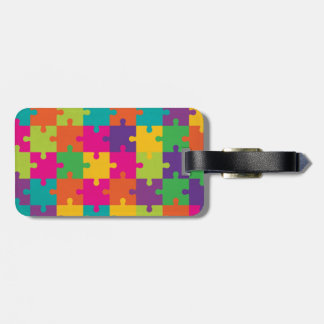 Colorful Jigsaw Puzzle Pattern Tag For Luggage