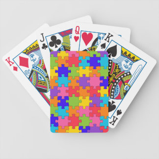 Colorful Jigsaw Puzzle Pieces Happy Puzzler Bicycle Playing Cards