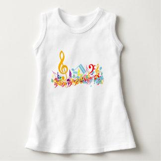 Colorful Jumbled Musical Notes T-shirts