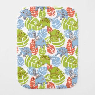 Colorful Jungle Elephants Baby Burp Cloth