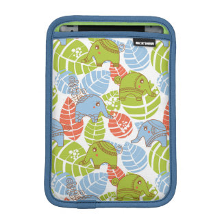 Colorful Jungle Elephants iPad Mini Sleeves