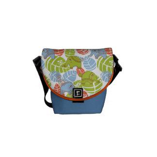 Colorful Jungle Elephants Messenger Bags