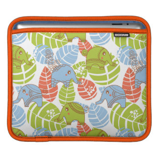 Colorful Jungle Elephants Sleeve For iPads