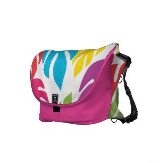 Colorful Jungle Leaves Rickshaw Messenger Bag